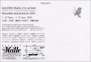 2021 GALERIE Malle 21e année Nouvelle rencontre en 2021 DM